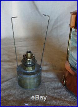 Vintage Nautical Copper Anchor Ship lantern with fresnel lens-Copper ANKARE light