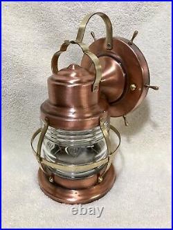 Vintage Nautical Copper Porch Light