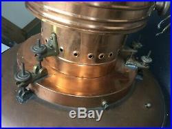 Vintage Nautical Industrial Light Pendant Fixture Brass Copper Handmade 21