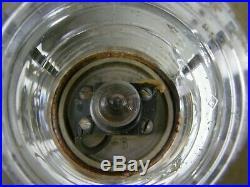 Vintage Nautical Marine Lantern Light Corning Glass Portable Ship Lamp US Navy