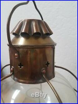 Vintage Nautical Marine Ship Oil Lamp Lantern Nippon Sento Japan 1968 Light