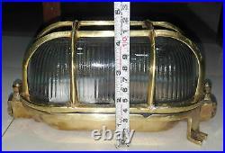 Vintage Nautical Marine Ship Passageway Cover Light Made Of Brass New 2 Piece