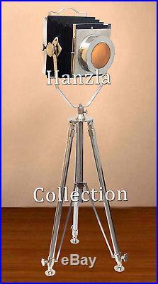 Vintage Nautical Photographers Floor Search Light Studio Tripod Lamp & Lighting