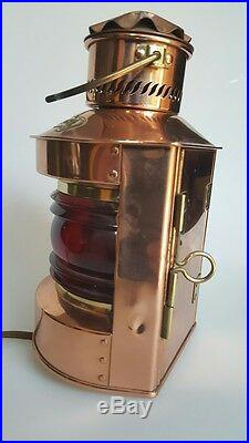 Vintage Nautical Red light Bakboord D. H. R. Holland Converted to Working Electric
