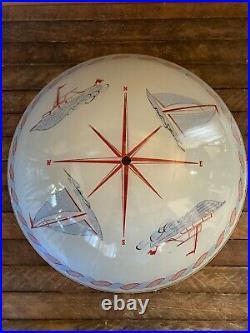 Vintage Nautical Sailboat Glass Ceiling Light Shade