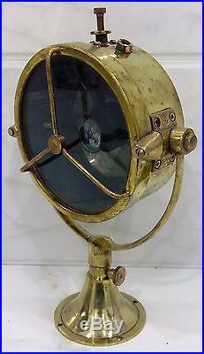 Vintage Nautical Salvage Brass Ship Spot Search Light 1 Piece Mint Condition
