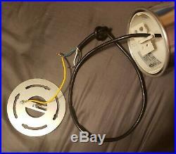 Vintage Nautical Stainless Industrial Pendant Light 13 Brass Nickel Edison Bulb