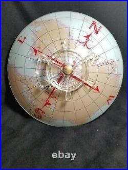 Vintage Nautical World Map Glass Ceiling Light Shade Ships Wheel Emerson Mount