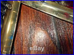 Vintage New Old Stock Perko Pair Polished Bronze/brass Side Lights Glass Lenses