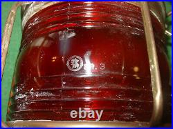 Vintage Nippon Sento Nautical Marine Red Ships Light All Around Red Lantern