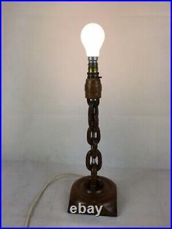 Vintage Novelty Wooden Chain Light / Lamp, Engineering Interiors / Nautical