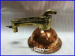 Vintage Old Copper & Brass Nautical Ship Pendant Cargo Light