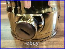 Vintage Oldham Admiralty Patt Ships Brass Inspection Lamp Light Maritime