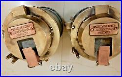 Vintage Original Brass Navigation MASTHEAD Light 2 pc. (Rare)