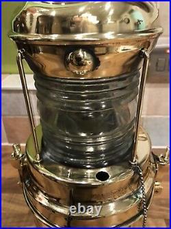 Vintage Original Brass PERKO Ships Buoy Light Lamp Maritime Marine Nautical