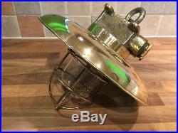 Vintage Original Brass Ships Hanging Light Maritime Maritime Nautical Boat