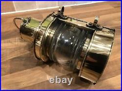 Vintage Original Brass Ships Masthead Oil Light Lamp Maritime Marine Nautical