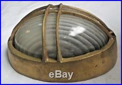 Vintage Original Marine Brass Nautical Ship Oval Wall Passage Light Piece 1