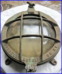 Vintage Original Marine Brass Nautical Ship Wall Passage Light Piece 1