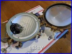Vintage Original Marine Heavy Brass Aluminum Nautical Ship Wall Passage Light