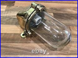 Vintage Original Ships Brass Bulkhead McGeoch Lamp Light Maritime Nautical Boat