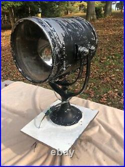 Vintage PERKO Marine Search Light SPOTLIGHT WWII NAUTICAL SALVAGE