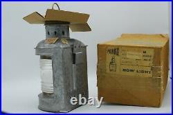 Vintage PERKO nautical light Unused in box Galvanized -brass Class 2 USA