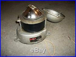 Vintage PYLE Marine Navigation Light Fixture 360 Degree Blue Glass Lens Beacon