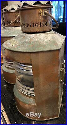 Vintage Pair Cooper Nautical Lights Stuurboord Lanterns