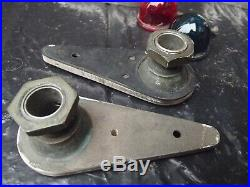 Vintage Pair Wilcox Crittenden Bronze Teardrop Running Lights Maritime Lights
