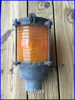 Vintage Pauluhn Heavy Bronze Buoy Piling Navigation Lantern Light Cat # 1453