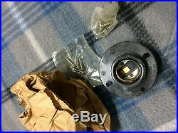 Vintage Pauluhn Industrial Nautical Marine Brass Caged Light Fixture NOS #2