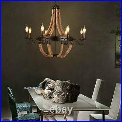 Vintage Pendant Light Rustic Chandelier Farmhouse Ceiling Fixture Dining Room US