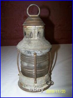 Vintage Perkins Marine Lamp & Hardware Co. Anchor Lantern Early Perko Light