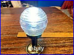 Vintage Perko Brass 6 Stern Light, Beehive Purple Glass, New Wiring/led