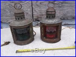 Vintage Perko Brass Maritime Nautical Navigation Starboard & Port gift Lights
