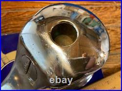 Vintage Perko Cast Chromed Bronze Bow Light, Red/green Lens New Wire/led 8 Long