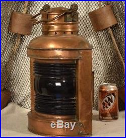 Vintage Perko Copper & Brass Starboard Light