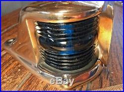 Vintage Perko Heavy Cast Bronze Bow Light, Red/green Lens New Socket/led 6 Long