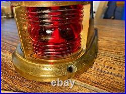 Vintage Perko Heavy Cast Bronze Bow Light, Red/green Lens New Socket/led 8 Long