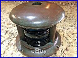 Vintage Perko Prewar Soup Can Bronze Bow Light Red/green Glass Lens Great Patina
