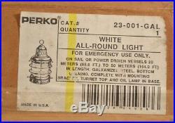 Vintage Perko Ships Medium All Round Navigation Light Nos