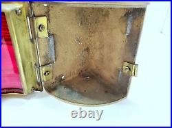 Vintage Perko Solid Brass Nautical Light Original Corner Maritime