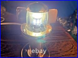 Vintage Perko Steaming Light Raked Bronze Mount, Glass Lens New Wire, Led, Seals