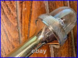 Vintage Polished Brass 17 Stern Light, Glass Lens, New Wiring/led