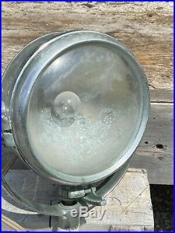Vintage Portable Light Co, One Mile Ray, Boat Spotlight, Rotates 360, No Cracks