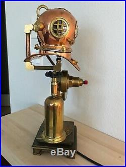 Vintage Russian 3 bolt helmet Lamp with Torch valve light switch