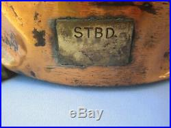 Vintage SHIP LIGHT Masthead COPPER BRASS Maritime Navigation Lamp RARE Antique