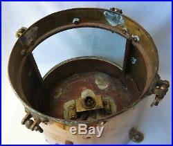 Vintage SHIP LIGHT Masthead COPPER BRASS Maritime Navigation Lamp RARE Starboard