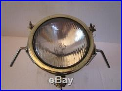Vintage SHIP'S BRASS SEARCH Light / Lamp with STAND- SHIP'S 100% ORIGINAL (312)